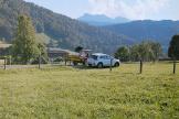Sur la ferme de Kaspanaze Simma, un paysan bio et écologiste, dans le Vorarlberg, région de l'ouest de l'Autriche.