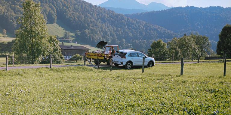 Kaspanaze Simma on his farm in Andelsbuch. 8.9.21