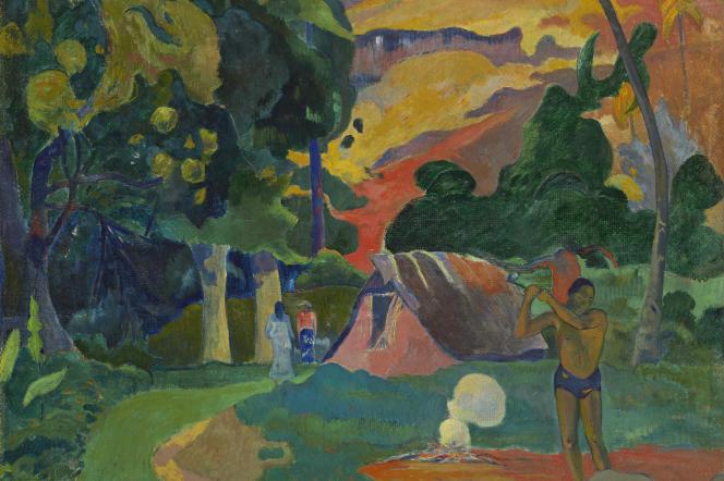 «Matamoe (la mort), paysage aux paons» (1892), de Paul Gauguin.