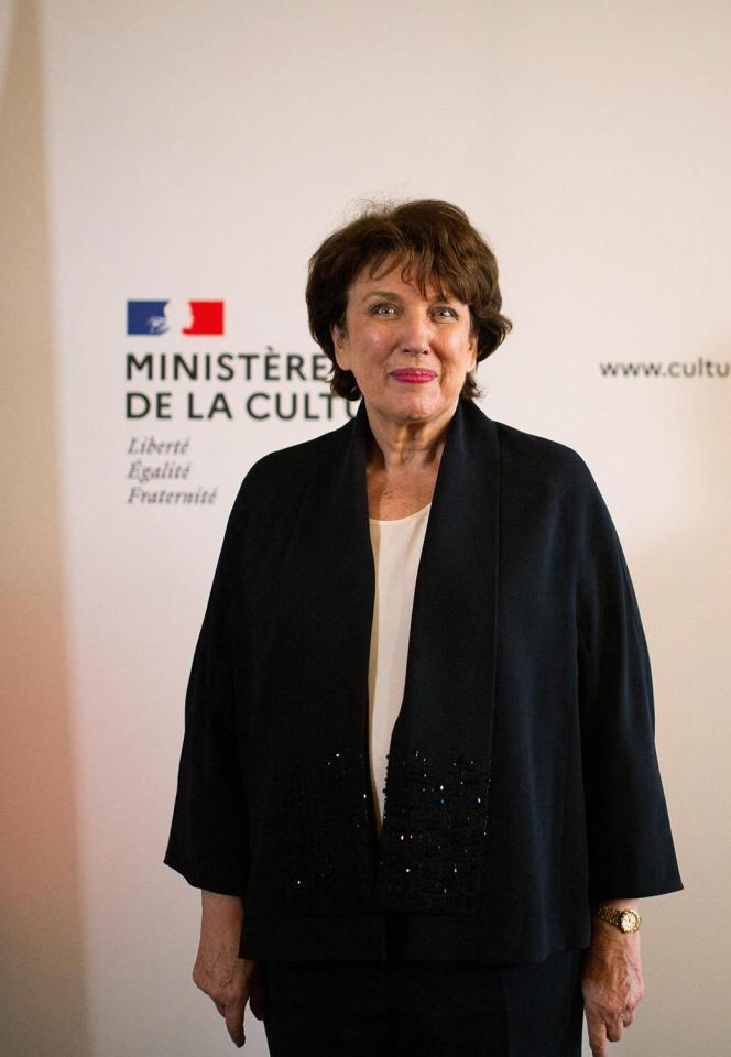 La ministre de la culture Roselyne Bachelot, le 6juillet 2020, à Paris.
