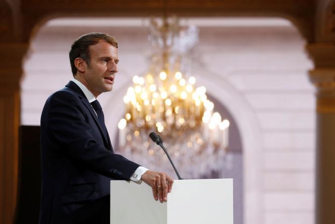 Emmanuel Macron, à l'Elysée, le 20 septembre 2021.