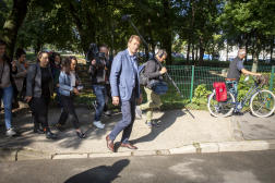 Yannick Jadot, candidat à la primaire des écologistes, à Sevran (Seine-Saint-Denis), le 21 septembre 2021.
