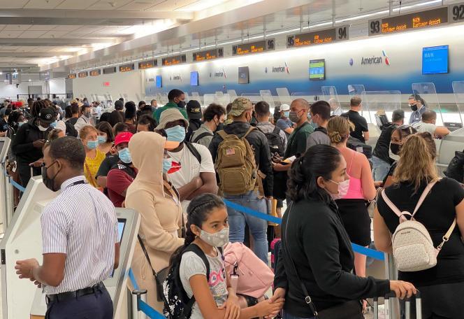 En el Aeropuerto de Miami (Florida), 2 de agosto de 2021. Estados Unidos levantará la prohibición de viajar por Europa a partir de principios de noviembre.