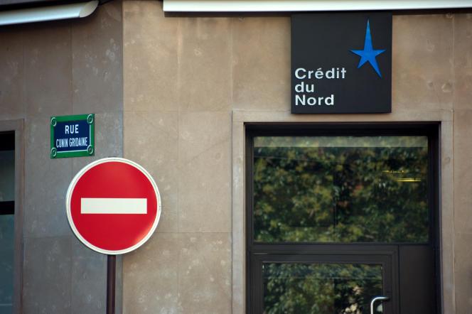 Une agence de la banque française Crédit du Nord, le 20 septembre 2010.