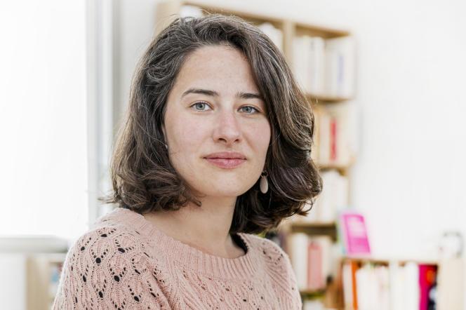 Clémence Perronnet, autrice du livre «La bosse des maths n'existe pas», aux éditions Autrement, en mai 2021.