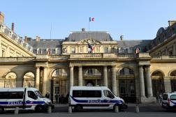 Une photo prise le 18 octobre 2018 devant l'entrée du Conseil d'Etat, sur la place du Palais Royal, à Paris.