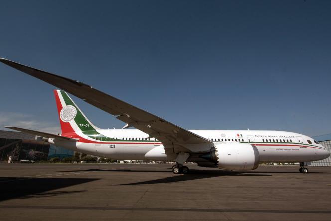 Le Boeing 787 présidentiel, à Mexico (Mexique), en 2018.