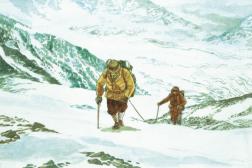 Extrait d'une planche couleur du tome 1 du« Sommet des dieux», de Jiro Taniguchi.