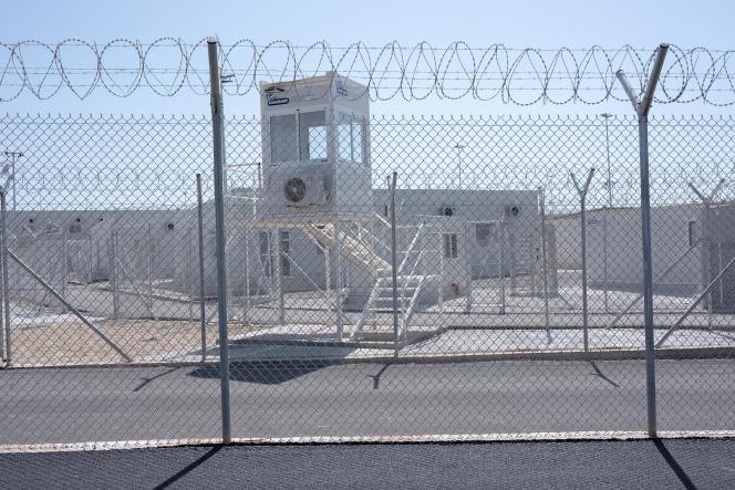 Le nouveau «centre fermé à accès contrôlé» de Zervou,en Grèce, le 18 septembre 2021.
