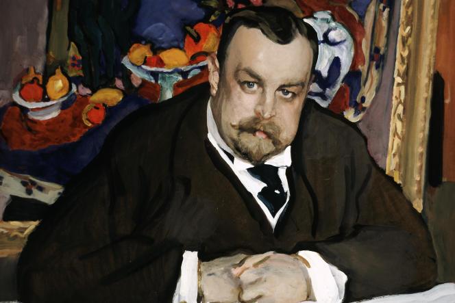 Portrait du collectionneur Ivan Abramovitch Morozov par Valentin Serov, à Moscou, en1910.