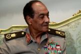 Mohammed Hussein Tantaoui lors d'un entretien avec le président égyptien Mohamed Morsi, le 31 juillet 2012.