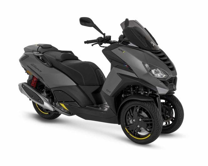 Le scooter trois-roues Metropolis de Peugeot Motocycles.
