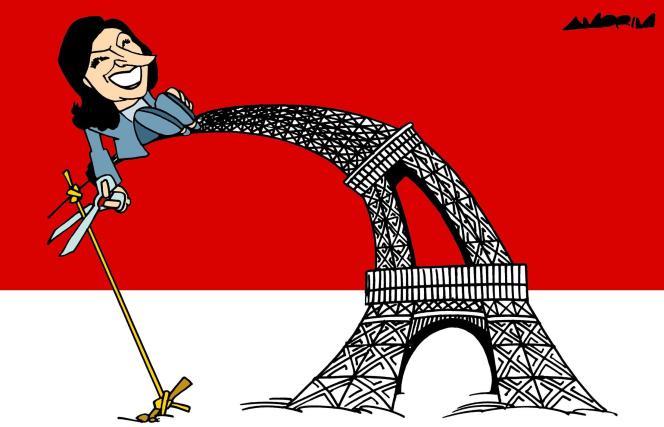 Dessin paru en « une » du « Monde » le 15 septembre, signé par le dessinateur brésilien Amorim.