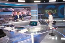 Yannick Jadot et Sandrine Rousseau, sur le plateau de LCI, le 22septembre 2021.