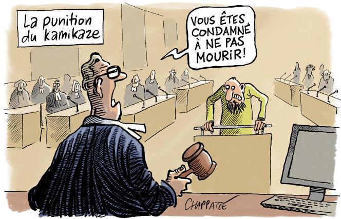 Dessin paru en « une » du « Monde » le 10 septembre, signé par le dessinateur suisse Chappatte.
