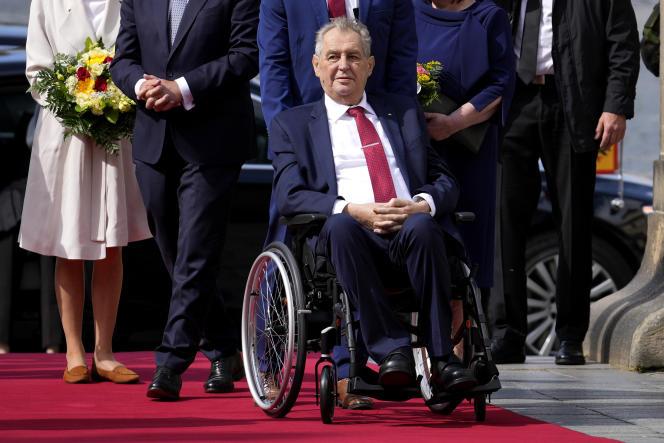 Milos Zeman, en août, à Prague.