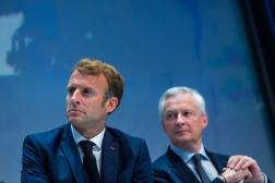 Emmanuel Macron et le ministre deLe ministre de l'économie, des finances et de la relance Bruno Le Maire, le 16 septembre 2021, à Paris.