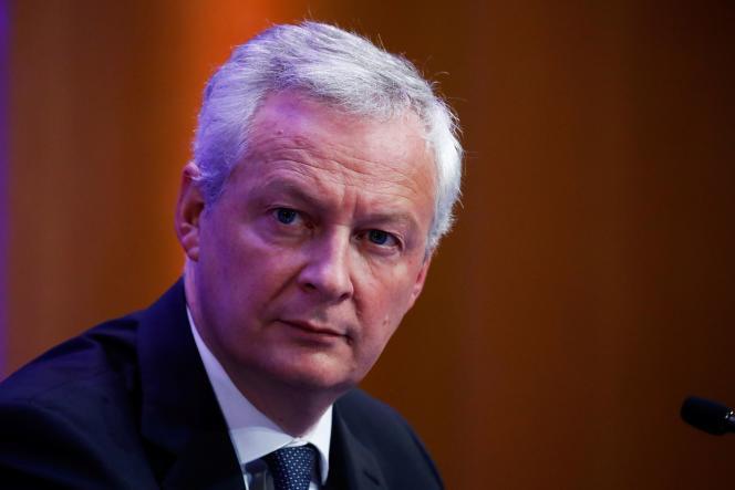 Le ministre de l'économie français Bruno Le Maire lors d'une conférence de presse à Paris, le 22 septembre 2021.