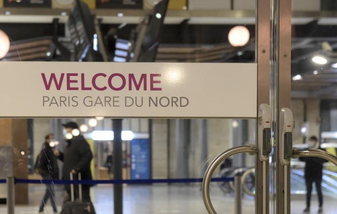 A la gare du Nord, à Paris, en décembre 2020.
