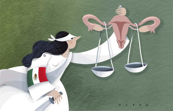 Dessin paru en « une » du « Monde » le 20 septembre, signé par la dessinatrice colombienne Elena.