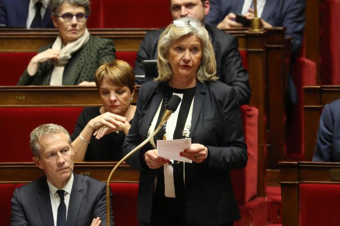 La députée de Sâone-et-Loire, Cécile Untermaier, à l'Assemblée nationale, le 14 janvier 2020.