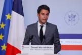 Gabriel Attal, porte-parole du gouvernement, à Paris, le 22 septembre 2021.