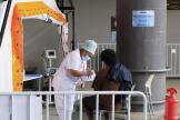 Aux urgences du centre hospitalier territorial de Dumbéa, en Nouvelle-Calédonie, le 7septembre 2021.