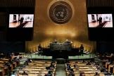 A l'Assemblée générale des Nations unies, à New York, le 21 septembre 2021.