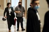 Thomas Annequin, l'un des six accusés au procès de la néo-OAS, à son arrivée au Palais de justice de Paris, le 21 septembre 2021.