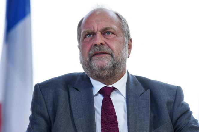 Le ministre de la justice, Eric Dupond-Moretti, sur les bancs de l'Assemblée nationale, le 25 août 2021.