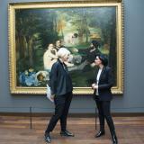 Maïtena Biraben et Rachida Dati au Musée d'Orsay, à Paris, dans l'émission «Déconfinés !», sur LCP.