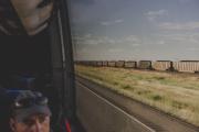 A bord d'un bus, dans le Montana.