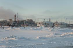 Site d'exploitation d'énergie fossile dans le nord de la Russie, en 2018.