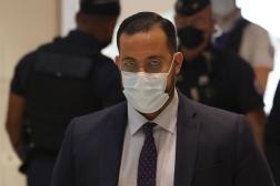 Alexandre Benalla, au tribunal correctionnel de Paris, le 13septembre2021