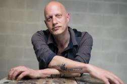 L'écrivain Frédéric Paulin, en mai 2021.