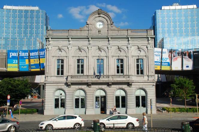 L'ancienne gare de Bruxelles, près du quartier européen, à Bruxelles, en 2012.