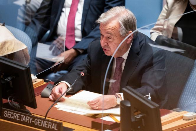 Le secrétaire général des Nations unies, Antonio Guterres, le 23 septembre 2021 à New York.