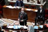 Le premier ministre français Jean Castex lors de la séance des questions au gouvernement à l'Assemblée nationale à Paris, le 21 septembre 2021.
