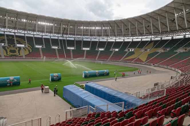 Le stade d'Olembé à Yaoundé, au Cameroun, le 8 août 2021.