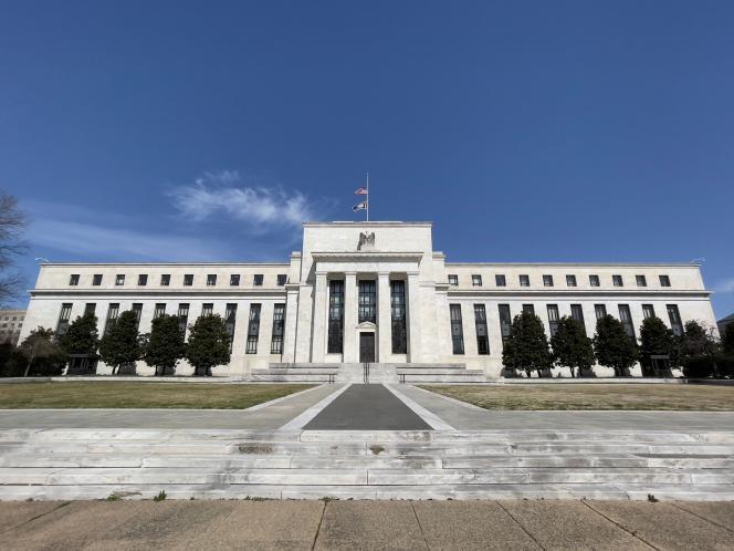 Le bâtiment de la Réserve fédérale américaine (Fed), à Washington DC, le 19 mars 2021.