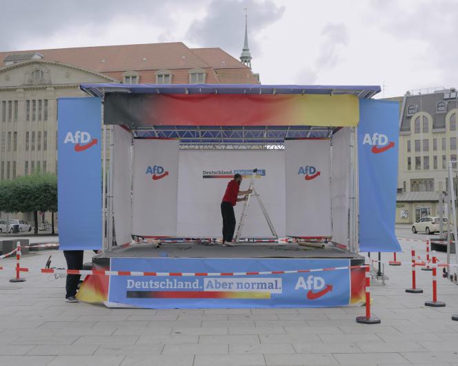 Lors d'un événement organisé par l'AfD à Görlitz (Saxe), en Allemagne, le 23 septembre 2021.
