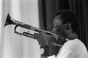 Miles Davis, lors du Newport Jazz Festival à Paris, Salle Pleyel, le 3 novembre 1969.