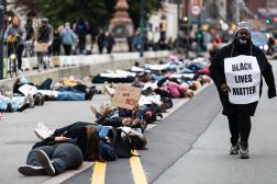 Manifestation de Black Lives Matter à Copenhague,le 6 octobre 2020.