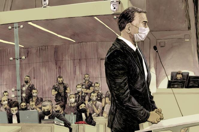Le commissaire C., de la brigade anticriminalité (BAC) de nuit de Paris, lors du procès du 13-Novembre, à Paris, le 22 septembre 2021.