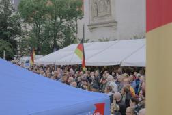 Des partisans de l'AfD lors d'un meeting à Görlitz, en Saxe, en Allemagne, le 23 septembre 2021.