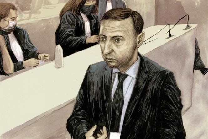 Christophe Molmy, ancien chef de la BRI, lors du procès du 13-Novembre, à Paris, le 22septembre 2021.