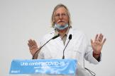Didier Raoult lors d'une conférence de presse en août 2020.