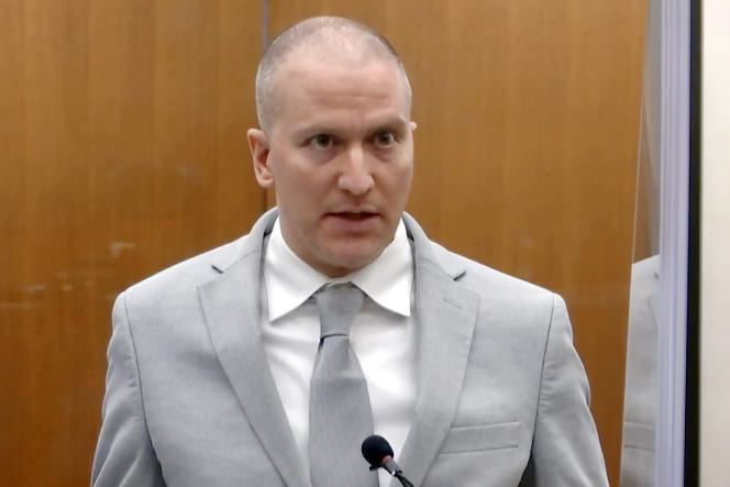 Derek Chauvinist at his trial in Minneapolis, Minnesota, June 25, 2021.