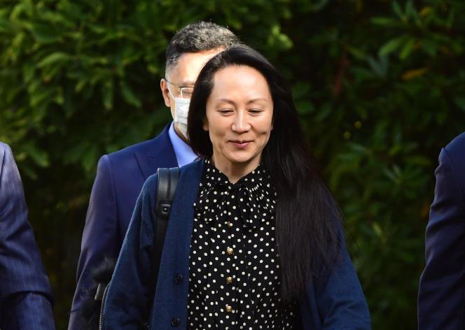 La ex directora financiera de Huawei, Meng Wanzhou, es liberada del arresto domiciliario en Vancouver (Canadá) el 24 de septiembre de 2021.