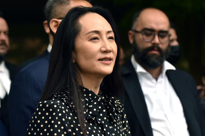 L'ancienne directrice financière du géant chinois des télécoms Huawei, Meng Wanzhou, à Vancouver (Canada), le 24 septembre 2021.
